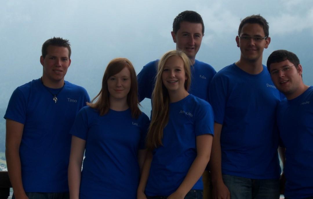 v.l. n.r.: Timo, Lea, Ann-Katrin, Felix, Dennis, Andre