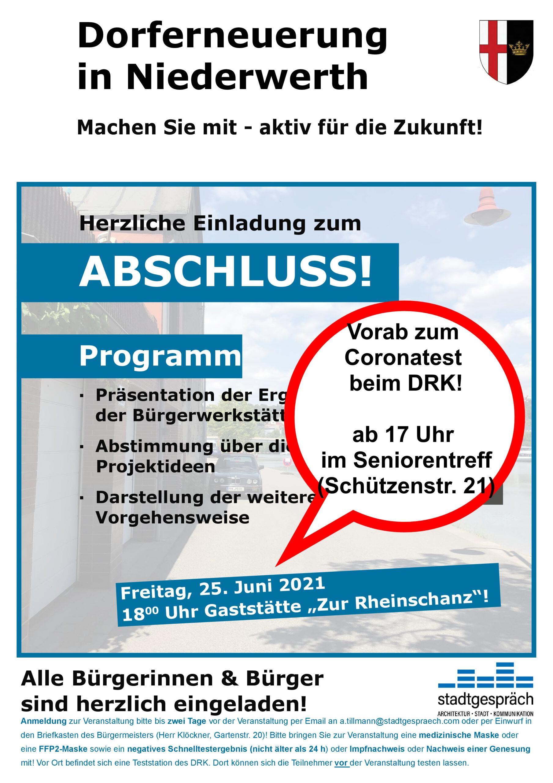 Öffnung Coronatestzentrum DRK Niederwerth